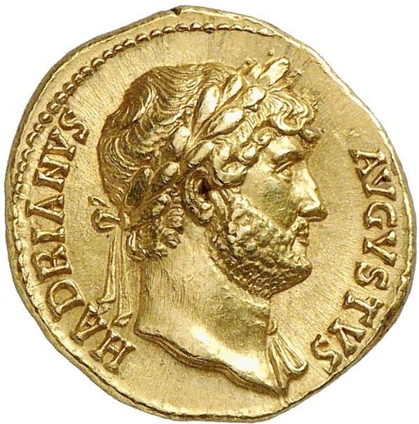 Aureus Avers Hadrian