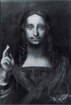 Leonardo da Vinci, Salvator Mundi unrestauriert